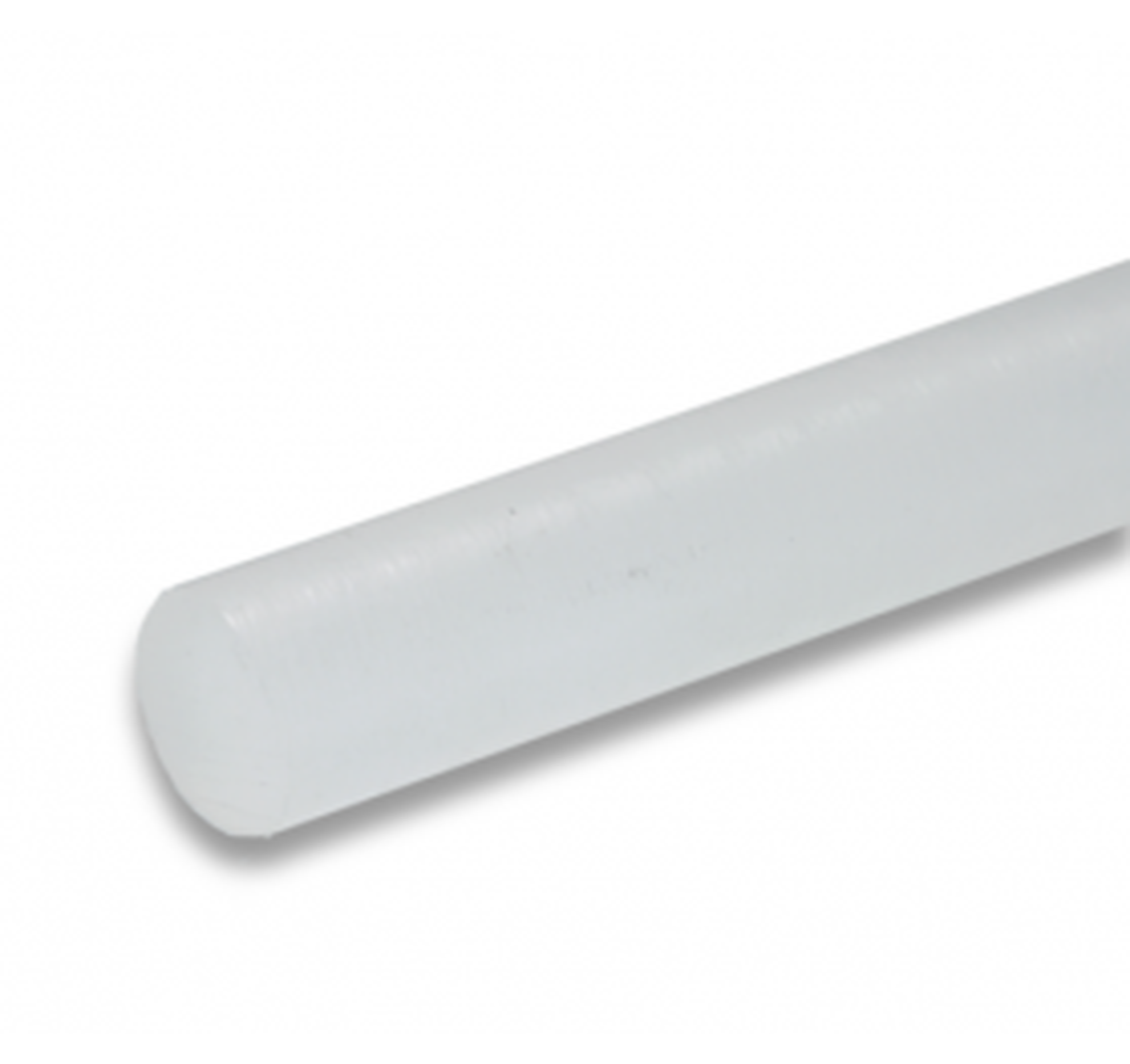 01131517 PCTFE round bar natural (opal), 20 - 50 mm