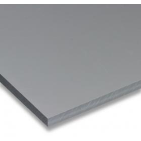 01211011 Plaque PVC-U gris, 2 - 5 mm