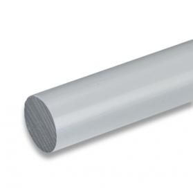01211516 PVC-U round bar grey, 45 - 150 mm