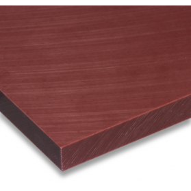 01221013 PE-HMW plate red-brown