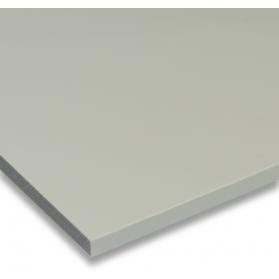 01231010 PP plate pebble grey, 1 - 15 mm