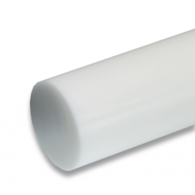 01193515 POM-C polished h9 round bar natural (white)