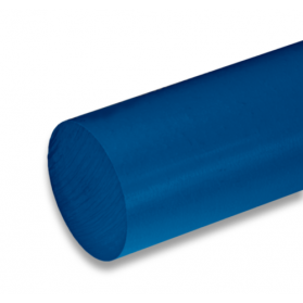 01221518 PE-UHMW round bar blue