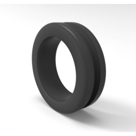 12221717 Kabel-Durchführungstülle, PVC, weich, schwarz, 70 ±5 Shore A