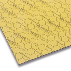 10109943 NOVATEC SPECIAL Dichtungsplatte KEVLAR/Graphit goldgelb