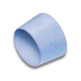 12220101 Bouchon conique, NR, gris-bleu, 40 ±5 Shore A