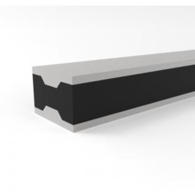 12204004 APSOvib® Gummi-Metall-Schiene Typ II