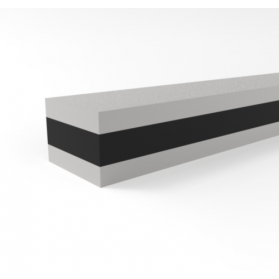 12204103 APSOvib® Gummi-Metall-Schiene Typ I