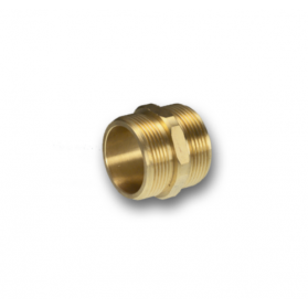 06454051 Brass double nipple with equal length external thread