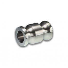 06454163 KAMLOK® Double adapter coupling male type 633-AA, stainless steel