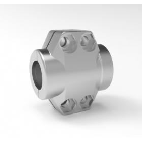 06454087 Coquilles de serrage en acier inoxydable
