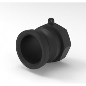 06454103 KAMLOK® Kupplung Vaterteil Typ 633-A, mit Innengewinde, Polypropylen