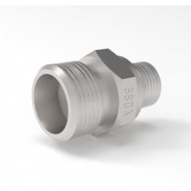 08450802 INOX GE screwed socket, light, inches, cylindrical